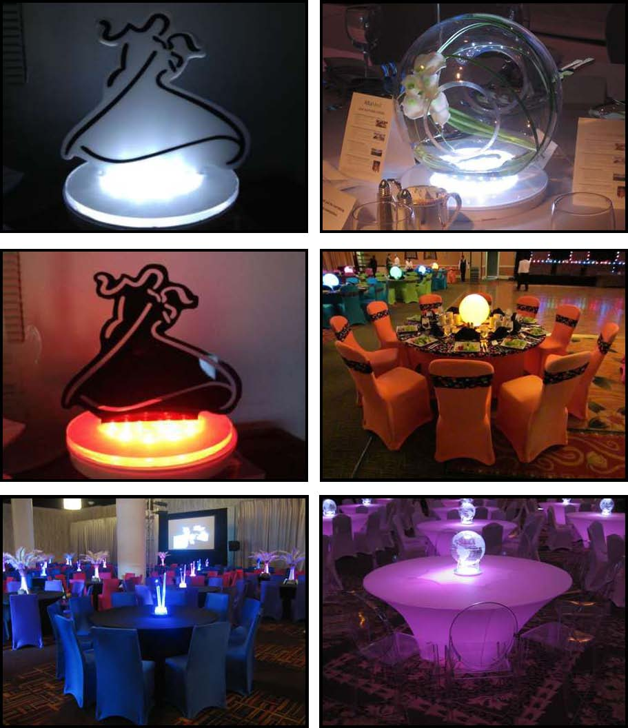 audio video & lighting - centerpieces led 10""