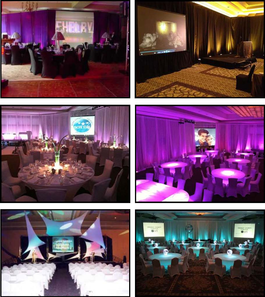 audio video & lighting - projection screens