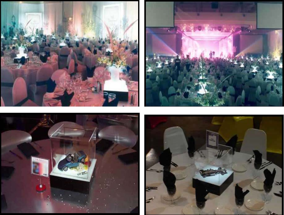 audio video & lighting - centerpieces - light boxes