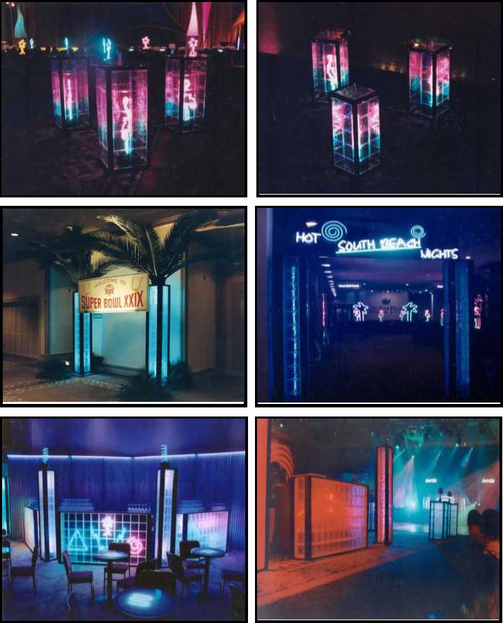 illuminated gb standups & columns