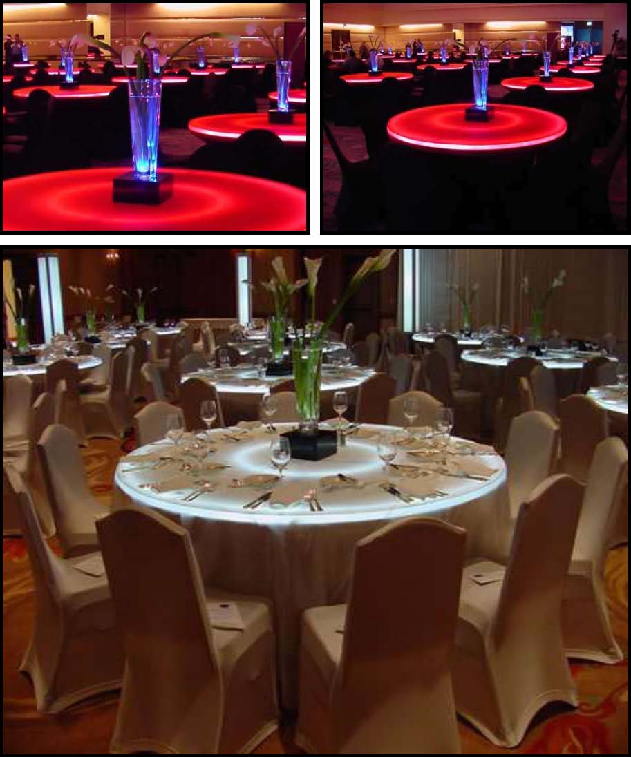 led centerpieces illuminated