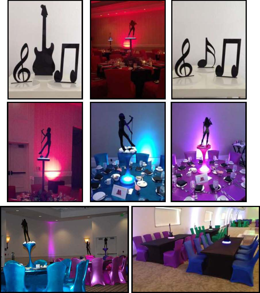 Music Themed Party Decorations Ideas Part - 17: Theme Party Shadow Music. Shadow Music